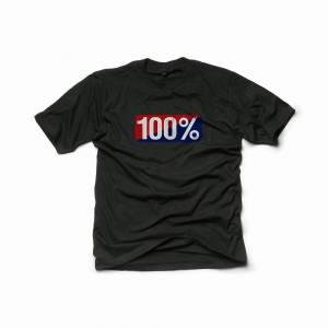 100% Classic Old School Black T-Shirt