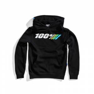 100% Kids Motorrad Black Pullover Hoodie