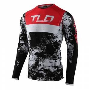 Troy Lee Designs SE Ultra Grime Black Rocket Red Motocross Jersey