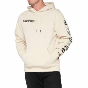 100% Super Future Oatmeal Heather Hooded Sweatshirt