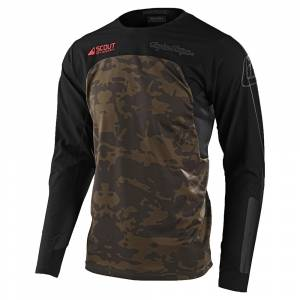 Troy Lee Designs Scout SE Systems Camo Green Motocross Jersey
