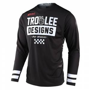 Troy Lee Scout GP Peace and Wheelies Black Motocross Jersey
