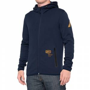 100% Viceroy Tech Navy Fleece Hoodie