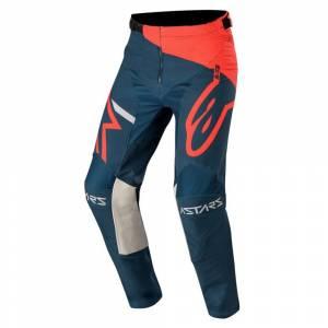 Alpinestars Racer Tech Compass Bright Red Navy Motocross Pants