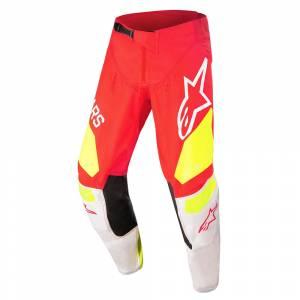 Alpinestars Kids Racer Factory Red Fluo White Yellow Fluo Motocross Pants