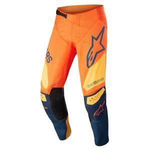 Alpinestars Kids Racer Factory Orange Dark Blue Warm Yellow Motocross Pants