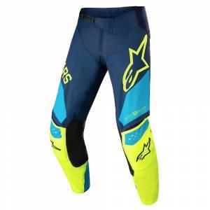 Alpinestars Kids Racer Factory Dark Blue Yellow Fluo Blue Motocross Pants