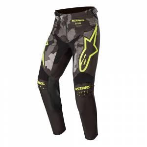 Alpinestars Kids Racer Tactical Black Grey Camo Yellow Fluo Motocross Pants