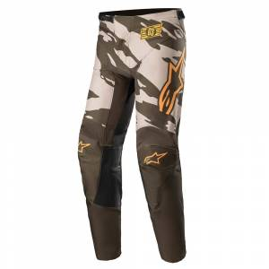 Alpinestars Kids Racer Tactical Military Sand Camo Tangerine Motocross Pants
