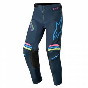 Alpinestars Kids Racer Braap Navy Aqua Pink Fluo Motocross Pants