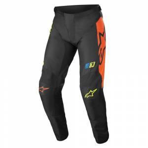 Alpinestars Kids Racer Compass Black Yellow Fluo Coral Motocross Pants