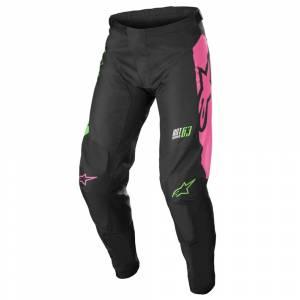 Alpinestars Kids Racer Compass Black Green Neon Pink Fluo Motocross Pants