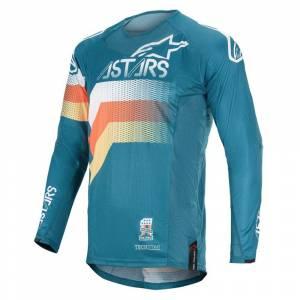 Alpinestars Techstar Venom Petrol White Orange Fluo Motocross Jersey