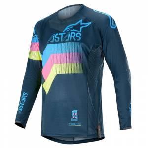 Alpinestars Techstar Venom Navy Aqua Pink Fluo Motocross Jersey