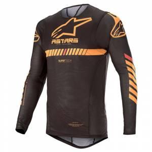 Alpinestars Supertech Black Orange Red Fluo Motocross Jersey