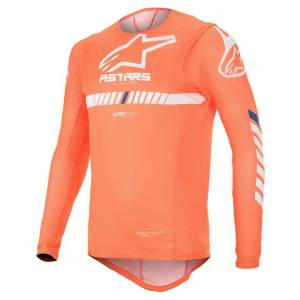 Alpinestars Supertech Orange Fluo White Blue Motocross Jersey