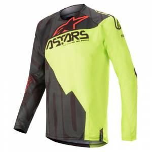 Alpinestars Techstar Factory Black Yellow Fluo Red Fluo Motocross Jersey
