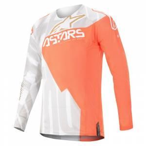 Alpinestars Techstar Factory Metal White Orange Fluo Gold Motocross Jersey