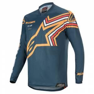 Alpinestars Racer Braap Navy Orange Motocross Jersey