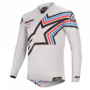 Alpinestars Racer Braap Light Grey Black Motocross Jersey