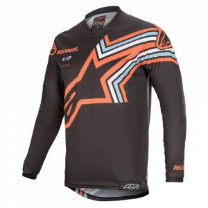 Alpinestars Racer Braap Dark Grey Orange Fluo Motocross Jersey