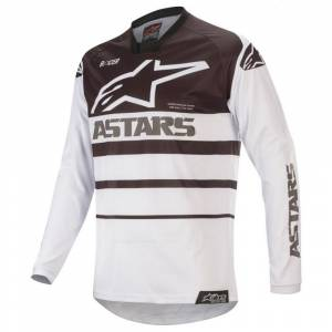 Alpinestars Racer Supermatic White Black Motocross Jersey