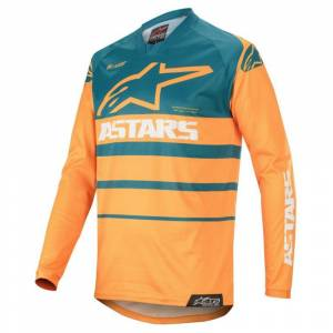 Alpinestars Racer Supermatic Orange Petrol Motocross Jersey