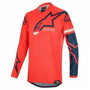 Alpinestars Racer Tech Compass Bright Red Navy Motocross Jersey