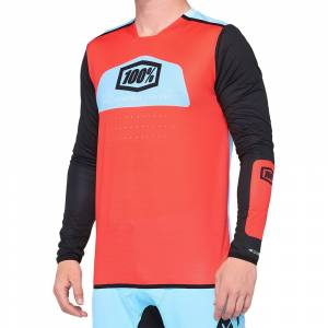 100% R-Core X Fluo Red Black Motocross Jersey