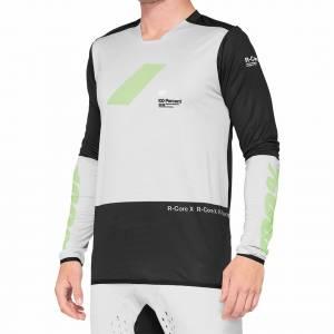 100% R-Core X Vapor Black Motocross Jersey