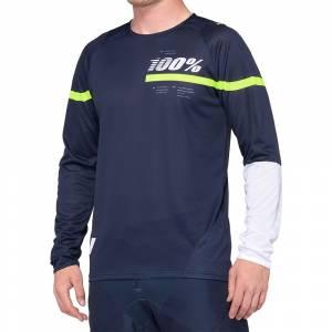 100% R-Core Dark Blue Yellow Motocross Jersey