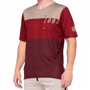 100% Airmatic Jersey Brick Dark Red
