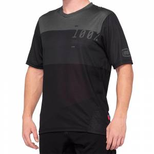 100% Airmatic Charcoal Black Motocross Jersey