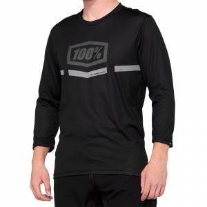 100% Airmatic Black Three Quarter Sleeve Motocross Jersey