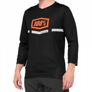 100% Airmatic Black Orange Three Quarter Sleeve Motocross Jersey