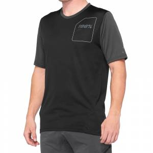 100% Ridecamp Charcoal Black Motocross Jersey