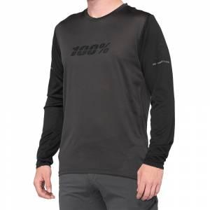 100% Ridecamp Black Charcoal Long Sleeve Motocross Jersey