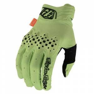 Troy Lee Designs Gambit Solid Glo Green Motocross Gloves