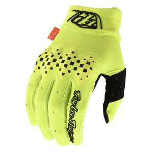 Troy Lee Designs Gambit Solid Fluo Yellow Motocross Gloves