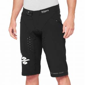 100% R-Core X Black Motocross Shorts
