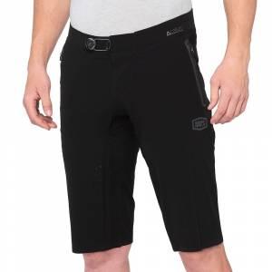 100% Celium Black Motocross Shorts