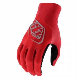 Troy Lee Designs SE Ultra Solid Red Motocross Gloves