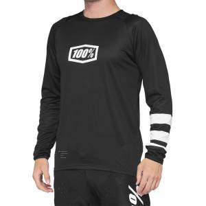 100% Kids R-Core Black White Motocross Jersey