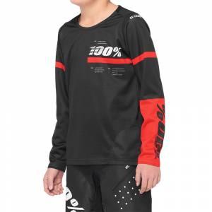 100% Kids R-Core Black Red Motocross Jersey