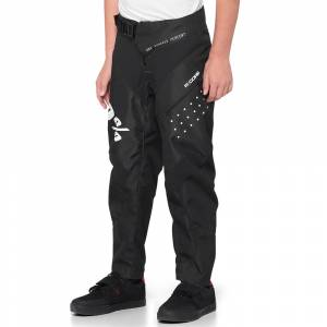 100% Kids R-Core Black Motocross Pants