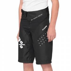 100% Kids R-Core Black Motocross Shorts