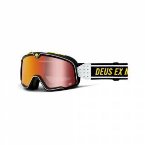 100% Barstow Deus Ex Machina Red Mirror Lens Motocross Goggles