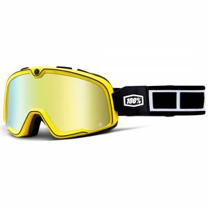 100% Barstow Classic Burnworth Gold Mirror Lens Motocross Goggles