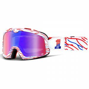 100% Barstow Classic Death Spray Red Blue Mirror Lens Motocross Goggles