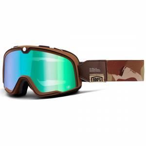 100% Barstow Classic Pendleton Flash Green Mirror Lens Motocross Goggles